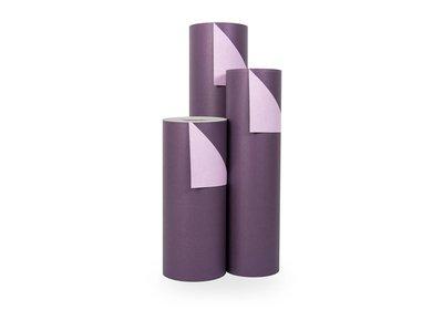 Kadopapier 30/50 cm 200 meter 2 kleuren paars/lila