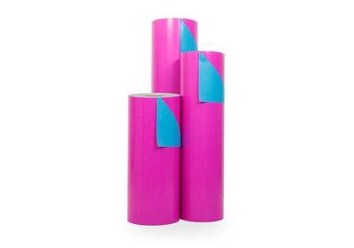 Kadopapier 30/50 cm 200 meter dubbelzijdig roze/l.blauw