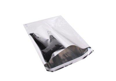 Luxe geschenk/ verzendzakken Metallic Folie zilver á 25 stuks