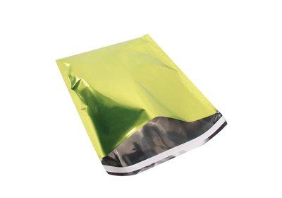Luxe geschenk/ verzendzakken Metallic Folie groen á 25 stuks