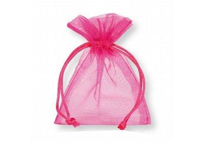 Organza zakjes roze á 50 stuks