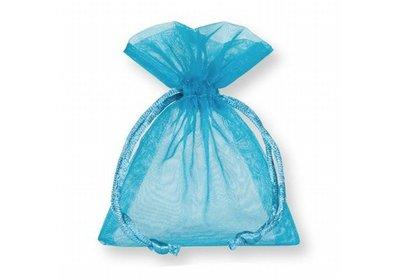 Organza zakjes turquoise á 50 stuks