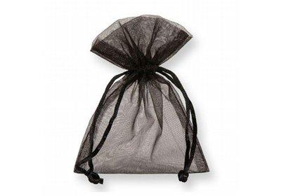 Organza zakjes zwart á 50 stuks