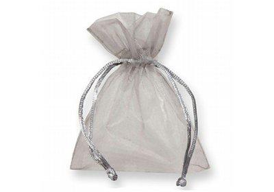 Organza zakjes zilver á 50 stuks