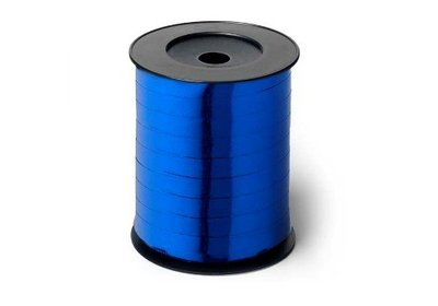 Krullint 10mm 250m metallic blauw