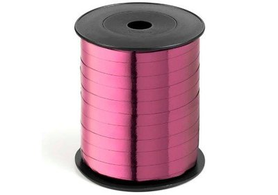 Krullint 10mm 250m metallic roze