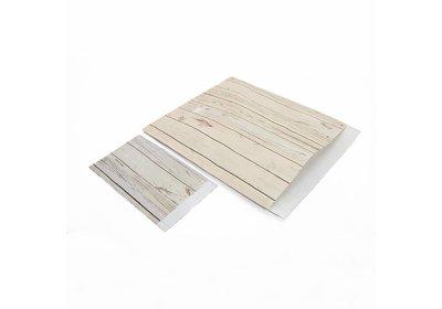 Luxe Kraft zakjes White wood á 250 stuks