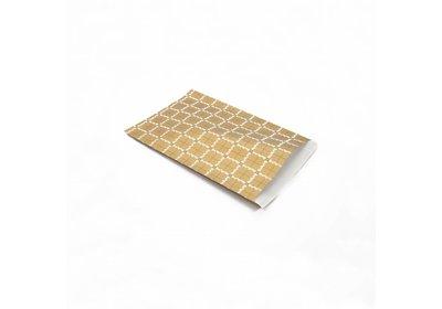 Luxe Kraft zakjes Daisy gold á 250 stuks