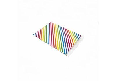 Luxe Kraft zakjes Stripes colors á 250 stuks