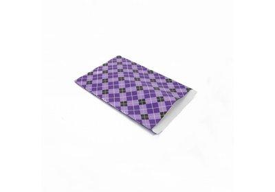 Luxe Kraft zakjes Blocks purple á 250 stuks