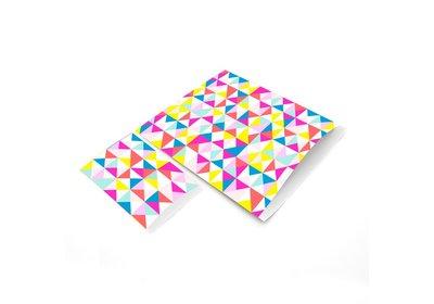Luxe Kraft zakjes Neon blocks á 250 stuks