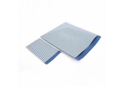 Luxe Kraft zakjes Stripes dark blue á 250 stuks
