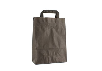 NIEUW Budget papieren lus draagtas zwart verpakt á 200 stuks