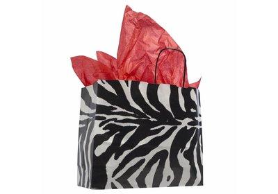 NIEUW Papieren twisted draagtas Zebra liggend model á 250 stuks