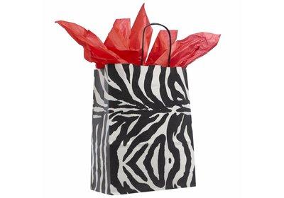 Buget Zebra Papieren twisted draagtas vanaf € 0,40 per stuk