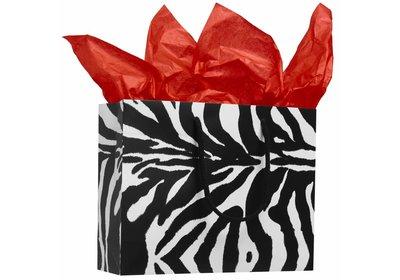 Budget luxe Papieren koorddraagtas Zebra á 100 stuks