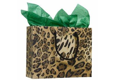 Budget luxe Papieren koorddraagtas Leopard á 100 stuks