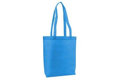 Non Woven draagtas met lus Aqua blauw