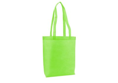 Non Woven draagtas met lus Apple green