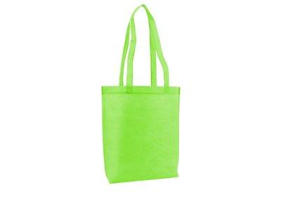 Non Woven draagtas met lus Apple green