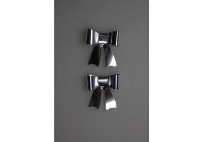 Vlinderstrikje zilver 50 stuks