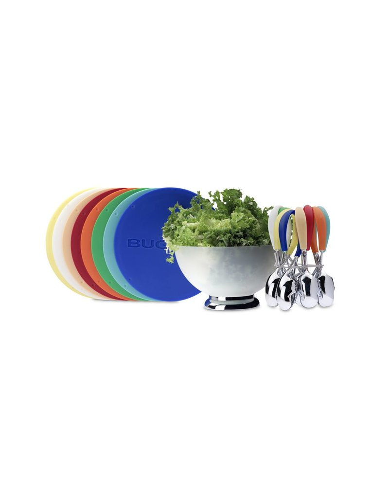 Bugatti Primavera & Mollakiss: Saladeschaal met slatang in wit
