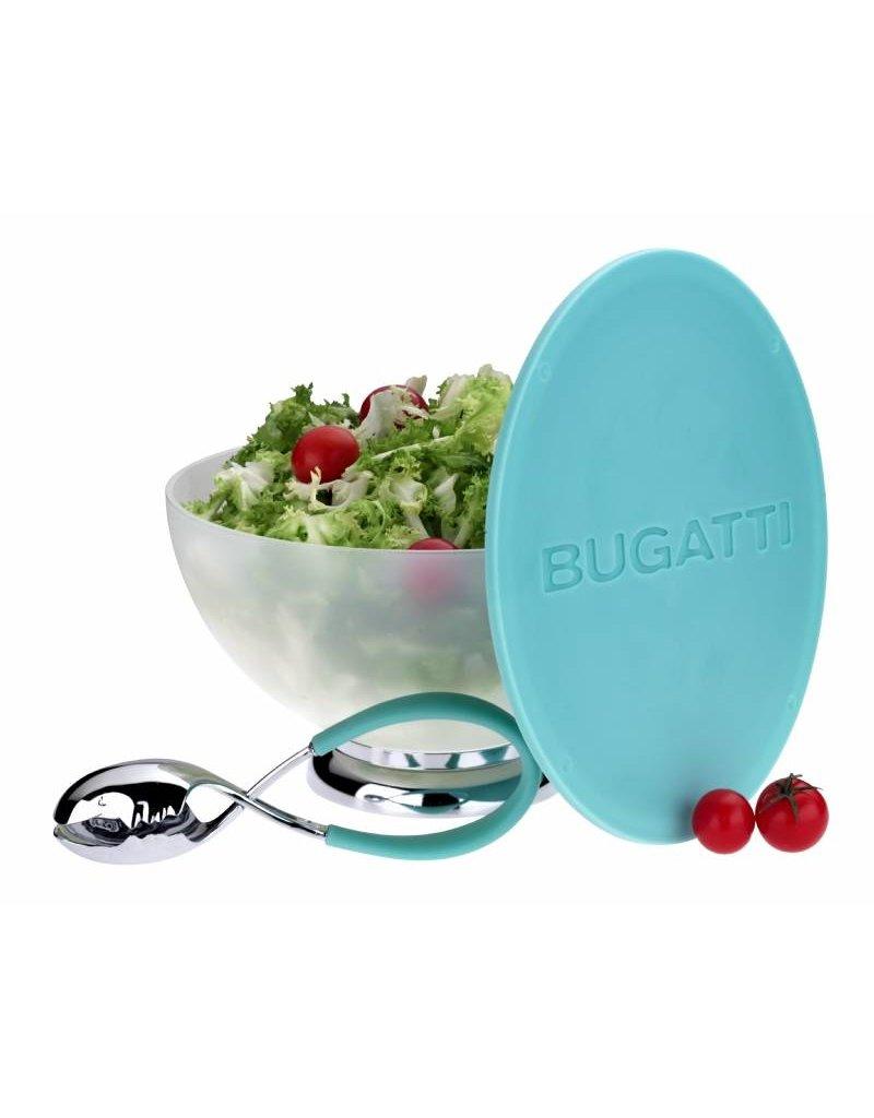Bugatti Primavera & Mollakiss: Saladeschaal met slatang in aqua