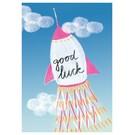 schönegrüsse Postkarte - good luck rakete