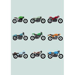 crissXcross Druck A3 - Motorräder