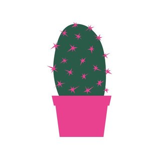 luminous Postkarte - Kaktus
