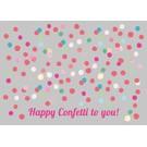 luminous Postkarte -confetti to you