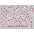 Postkarte -confetti to you