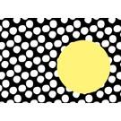Briefumschlag Nokta - schwarz-gelb