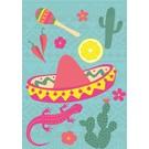luminous Postkarte - Mexican