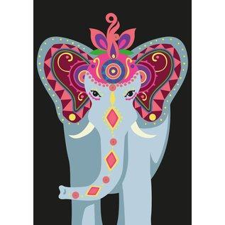 luminous Postkarte - Indian Elephant