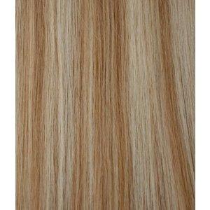 Hairworkxx Clip in Hairextensions 27/613 Farbe Camel / weiß Blond