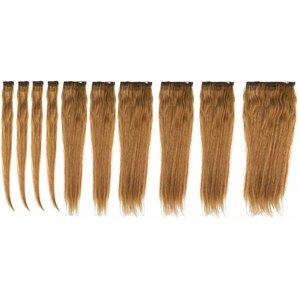 Hairworkxx Clip in Hairextensions Farbe 4/24 Reiche Brown / Sun Blonde
