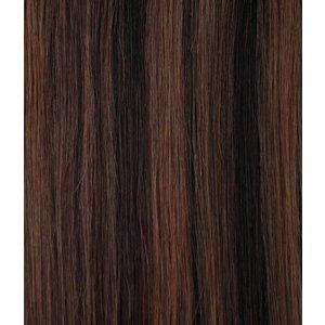 Hairworkxx Clip in Hairextensions Farbe 4/33 reichen braunen / dunkel Auburn