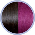 Euro SoCap Seiseta Invisible Clip-On Kastanienbraun / rot violett