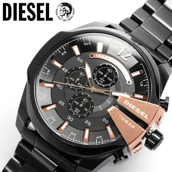 xl diesel herrenuhr chronograph dz4309 schwarz big mega chief neu loodoo. Black Bedroom Furniture Sets. Home Design Ideas