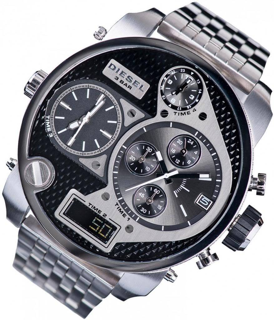 diesel 57mm xl chronograph herrenuhr uvp 349 gents watch. Black Bedroom Furniture Sets. Home Design Ideas