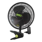 Garden High Pro Clip Fan ECO (20cm Lüfter) schwarz mit Clip Ultra-Efficient