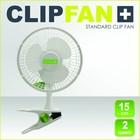 Garden High Pro Clip Fan (Clipfan) 15cm weiß, 2 Geschwindigkeiten mit Clip