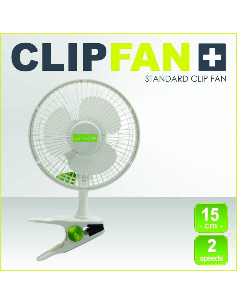Garden High Pro Clipventilator (Clipfan) 15cm wit, 2 snelheden met bevestigingsclip