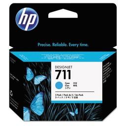 HP 711 Cyaan 29 ml 3x