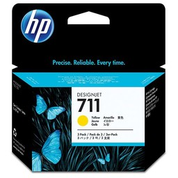 HP 711 Geel 29 ml 3x