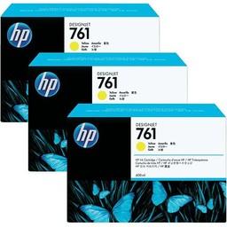 HP 761 Geel Ink Cartridges 3x