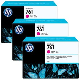 HP 761 Magenta Ink Cartridge 3x
