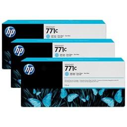 HP 771C Licht Cyaan 3x