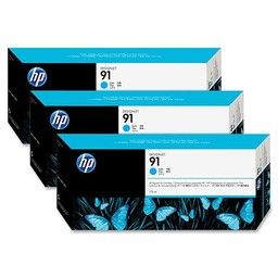 HP 91 Cyaan 775ml 3x